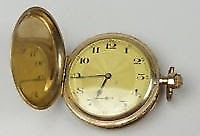 ANTIQUE 14K 74g GOLD CASED POCKET WATCH
