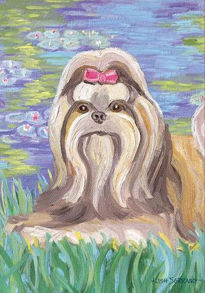 Bonet Shih tzu Garden Flag Animals Toland Decorative Pet