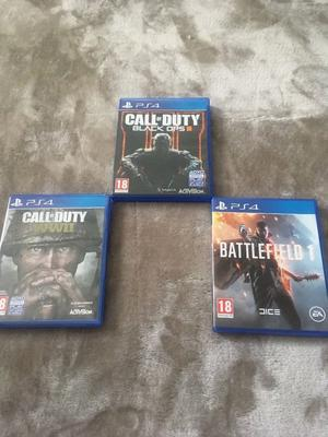 Call of Duty: Black Ops 3 + Call of Duty: WWII + Battlefield 1