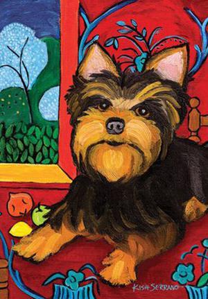 Muttisse Yorkie Garden Flag Animals Toland Decorative Pet