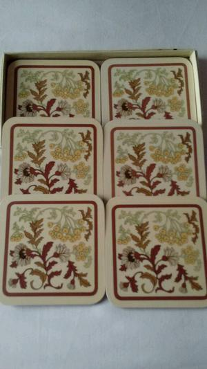 New set of 6 Melamine Cup Coasters (in box).