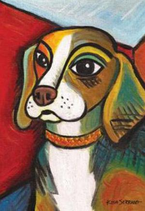 Pawcasso Beagle Garden Flag Animals Toland Decorative Pet
