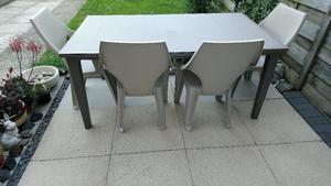 Allibert by Keter Quality Garden Table & 4 Chair Set