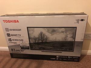 "Brand new 32"" smart toshiba tv still in box"