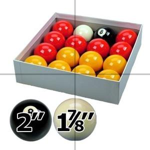 Red And Yellow 2 Pool Ball Set With 1 7/8 Inch Cue Ball For