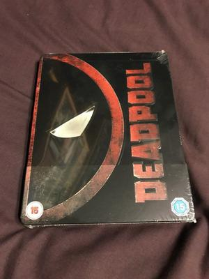 STEELBOOK BLU RAY - DEADPOOL ZAVVI EXCLUSIVE - BRAND NEW AND SEALED