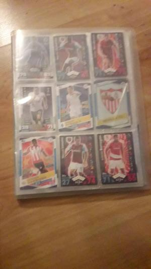 Match attax binder. Shiny cards included.