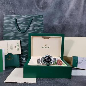 Rolex Submariner Silver Green Face - Complete Set Box And Papers 1 Year Free Warranty