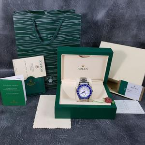 Rolex YachtMaster 2 Silver Blue Bezel White Face - Complete Set Box And Papers 1 Year Free Warranty