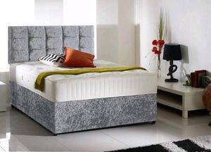 Deliver Today Single Bed set £99 / 4FT6 Double Bed Memoryfoam Mattress & Diamante Headboard