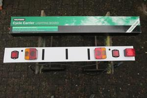 Halfords Cycle Carrier Lighting Board - as new
