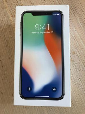 IPhone X brand new in box 64 gb unlocked white silver