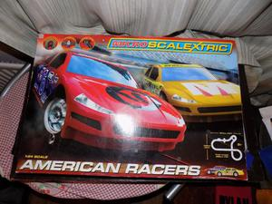 Scalextric G American Racers Car Micro Scalextric Set
