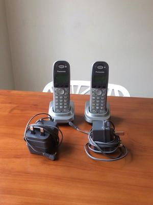 Two Panasonic Cordless extension phones with power supplies