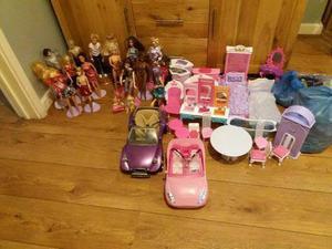 Barbie Dolls and Accessorries. Job Lot