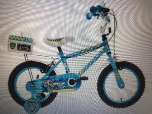 """Police Patrol Kids Boys Bike Bicycle 14"""" Inch Wheels"""