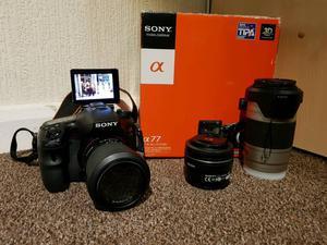 Sony SLT A77 bundle DSLR camera