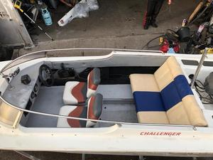 lovely boat speed 18 f long boat with 75hp mariner with trailer ready to go
