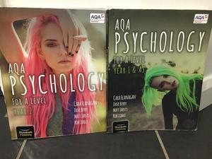 2x AQA A-Level Psychology Textbooks Year 1&2