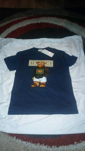 Gucci Teddy Bear T- Shirt - NAVY BLUE