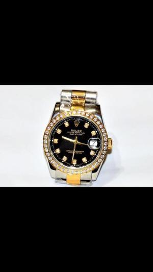 Rolex Watch Black Dimond Dial