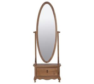 Pine Cheval Mirror On Base With Drawer Posot Class