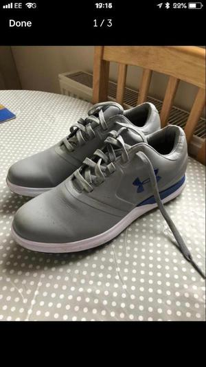 Men's under armour spikeless golf shoes size 8