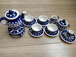 Polish Pottery miniature tea set