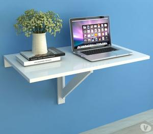 vidaXL Folding Wall Table White 100x60 cm  New