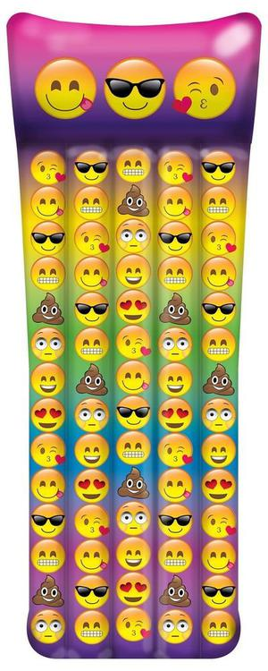 "Emoji Inflatable Pool Raft - Inflates To Over 65"" Long"