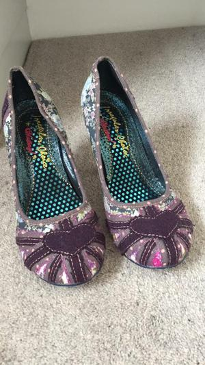 Irregular choice shoes high heels purple size 4