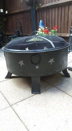 Large stars and moon fire pit