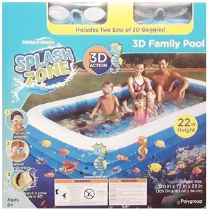 Summer Waves 3D Family Swimming Pool with 2 Pairs of 3D