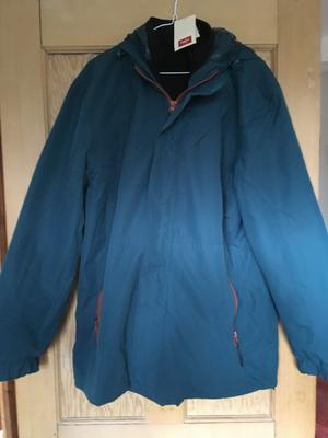 Waterproof woman's jacket. New with labels. Cotton Traders. Size L. Colour Lagoon