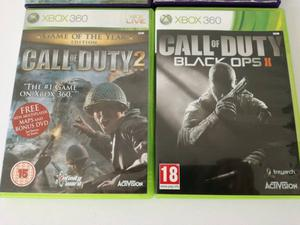 Xbox 360 Games Call of duty 2 goty edition with Call of duty Black ops ll in excellent condition £10