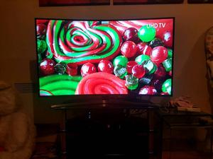 """49"""" SAMSUNG CURVE 4K UHD SMART WIFI LED TV BUILT IN FREEVIEW WITH REMOTE"""