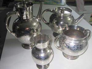 Antique  Martin Hall Tea Set, Jug has a dent caused by carrier