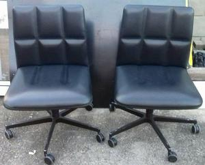 Quality leather Lederchairs by Walter Knoll x 2