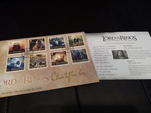 STAMP COLLECTION SIGNED BY CHISTOPHER LEE