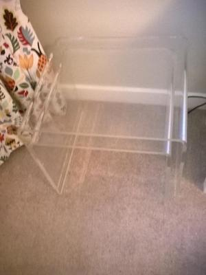 2 acrylic Perspex side tables