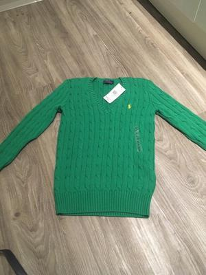 Ladies Ralph Lauren small green jumper brand new with tags