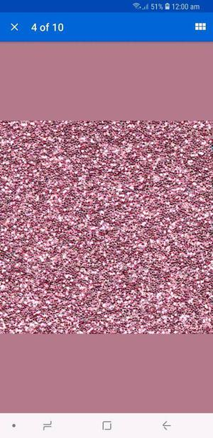 Pink glitter that you add to pair
