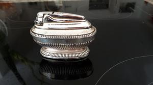 Vintage Ronson Queen Anne Silver Plated Table Lighter. Good condition for its vintage age.