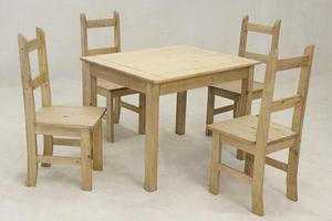 Coba Wooden Table and Chairs