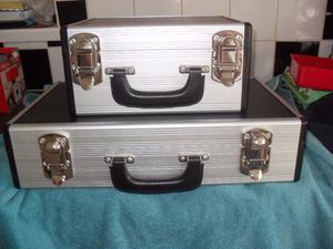 Metal Camera Case Trunk Aluminium/Wood Flight Case Reinforced Metal x 2