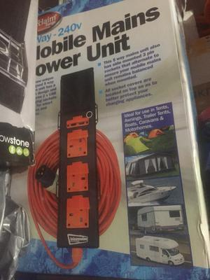 Brand New Boxed Mobile Power Unit Camping/Caravan