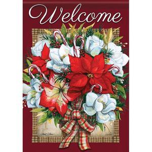 "Flowers of Christmas Winter Decorative Flag, 28"" x"