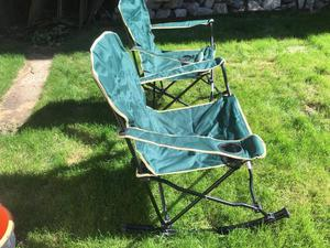 Folding rocking chairs brand new