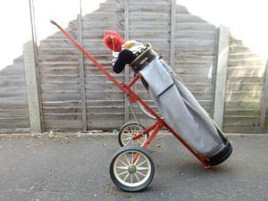 Golf Bag, Trolley and RH Clubs