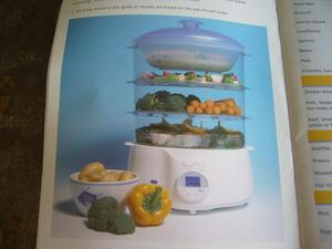 ROSEMARY CONLEY ELECTRIC FOOD STEAMER, NEVER USED.